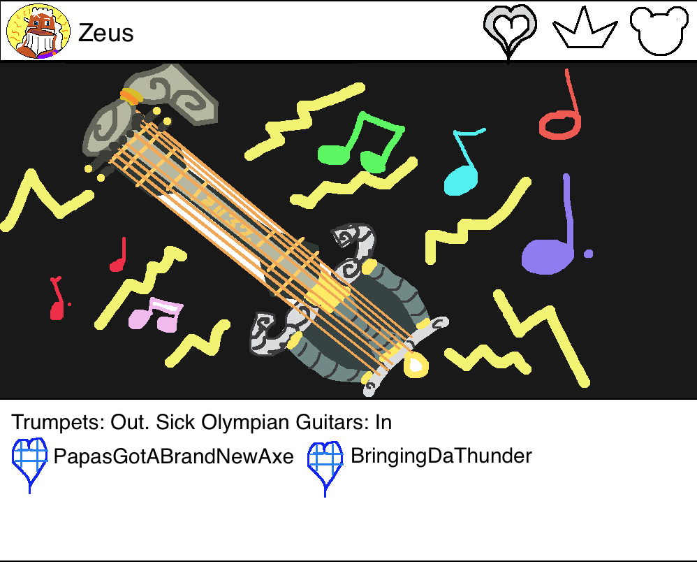 Zeus playing Olympus Keyblade Guitar...keytar! Instagram