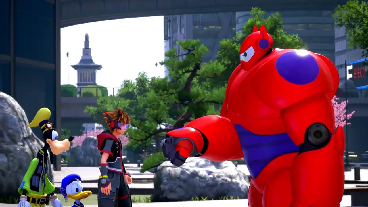 Baymax teaches Sora how to fist bump