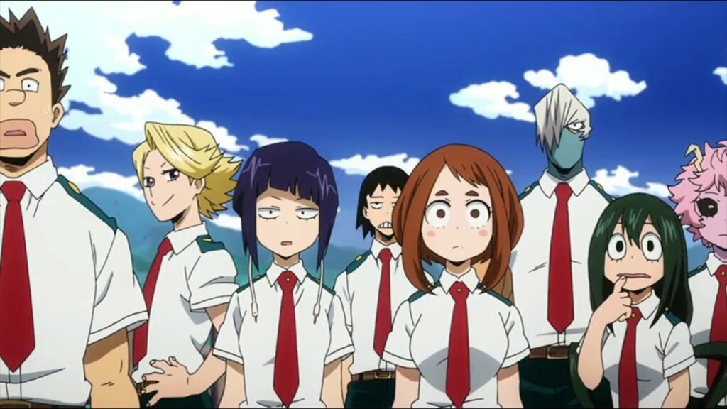 Class 1_a meet the pussycats in My Hero Academia