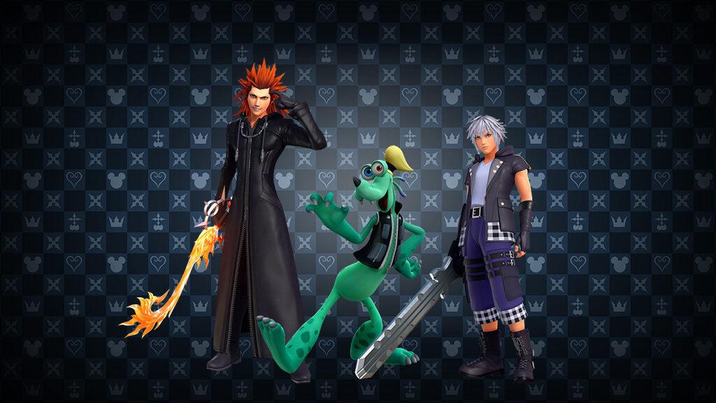 Riku, Axel, and Goofy from Kingdom hearts 3