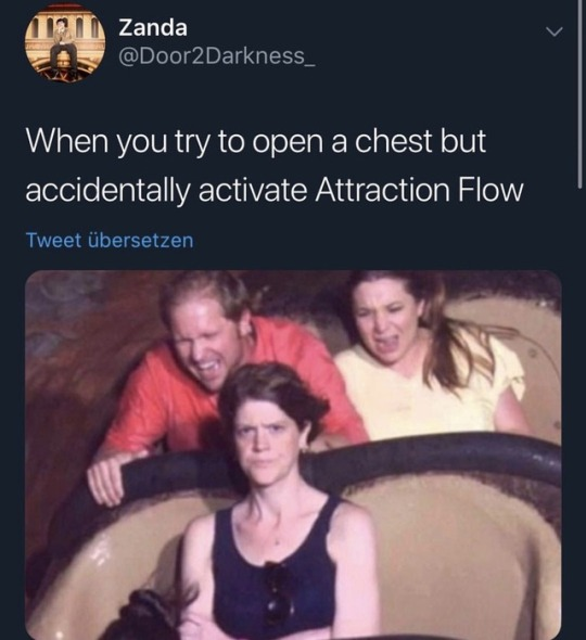When you try to open a chest but accidentally activate Attraction Flow