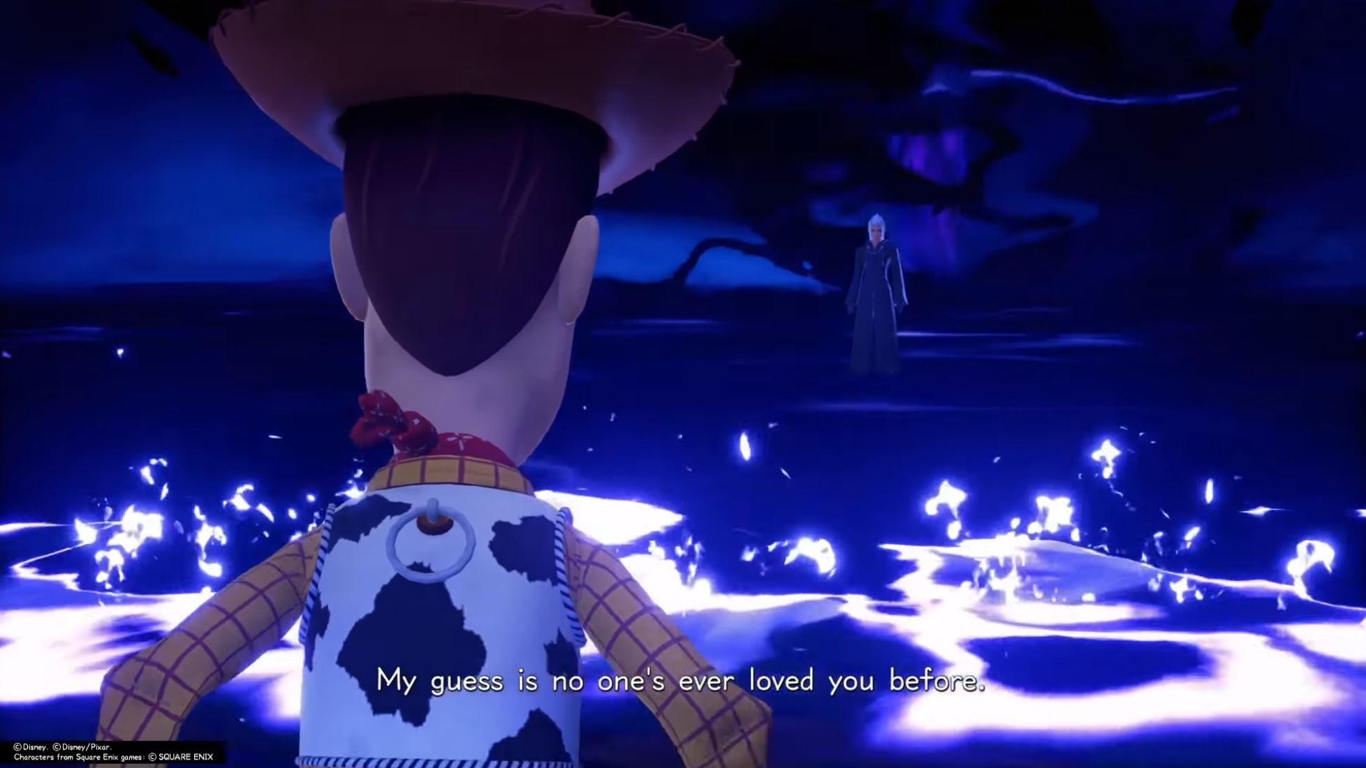 Woody roasts Xehanort in Kingdom Hearts 3