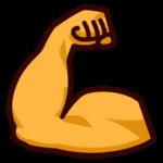 buff arm emoji