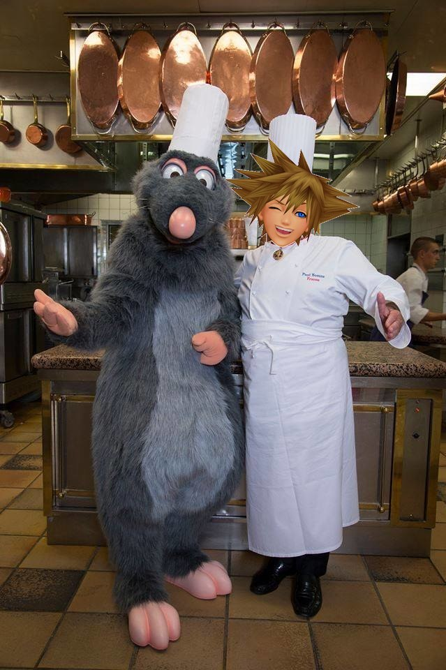 Little Chef and Sora full size Kingdom Hearts 3