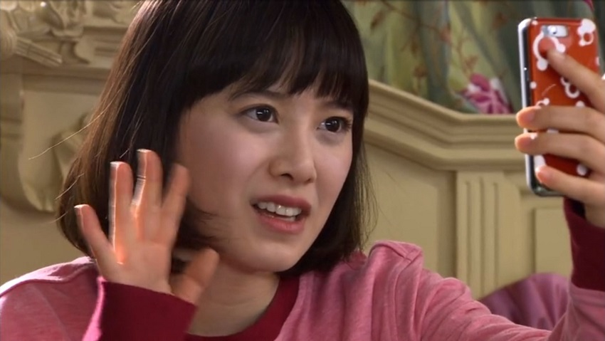 Jan-di on the phone in Boys Over Flowers
