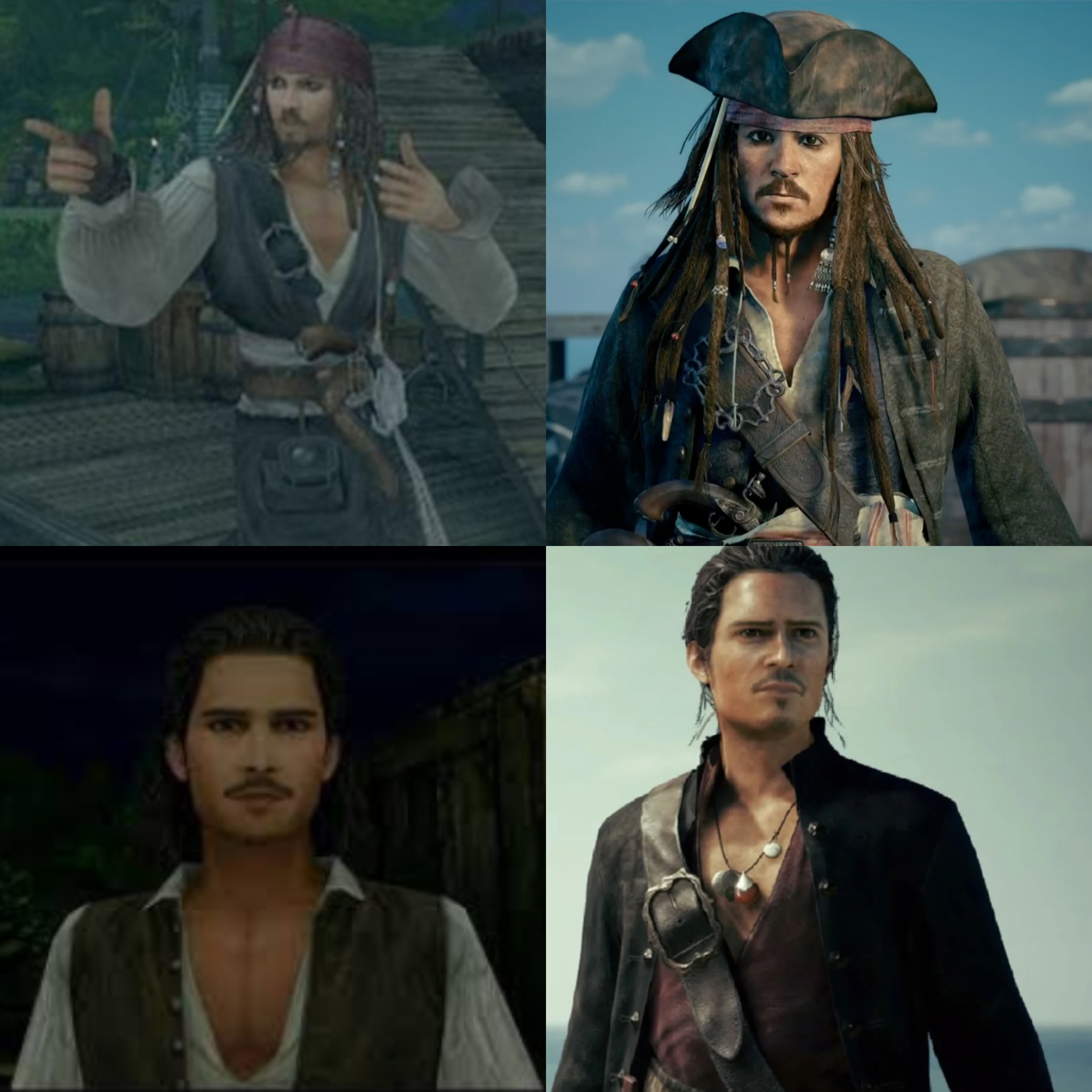 Jack Sparrow and Will Turner KH 3 Glow Up