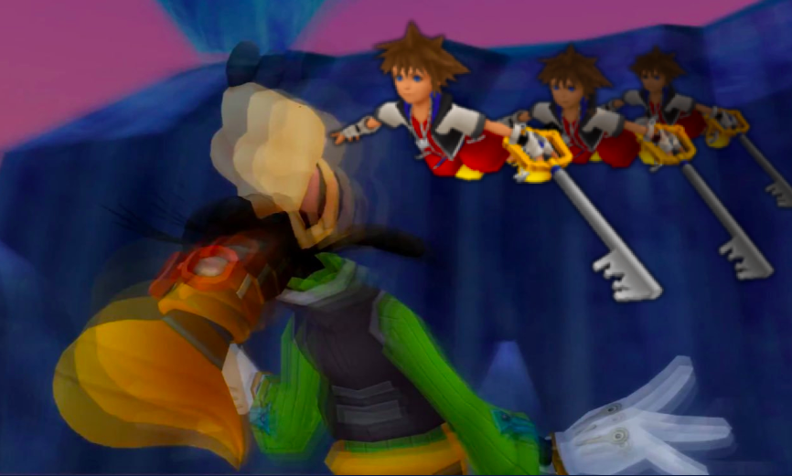 Gliding Sora causes the Death of Goofy
