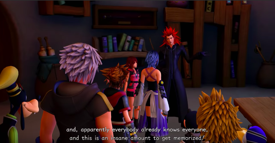 Axel this is a lot to get memorized Kingdom hearts 3