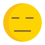 blank faced emoji
