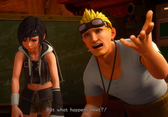 Cid and Yuffie in Kingdom Hearts 3 DLC