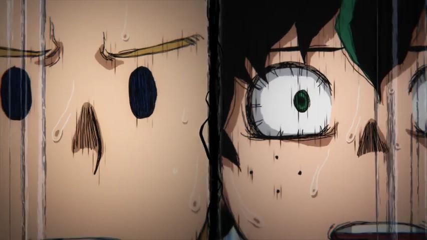 Deku and Mirio looking horrified