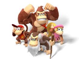 Image of the Donkey Kong family