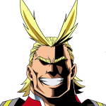 All Might smiling emoji