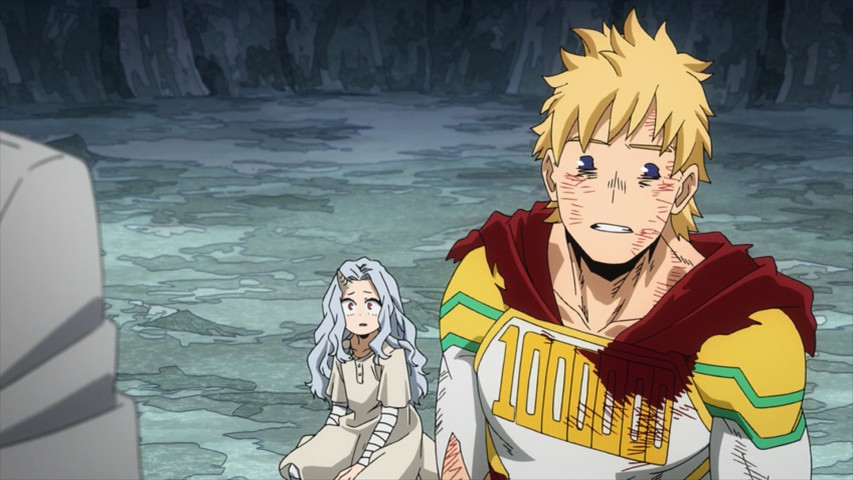 Mirio in front of Eri, looking exhausted