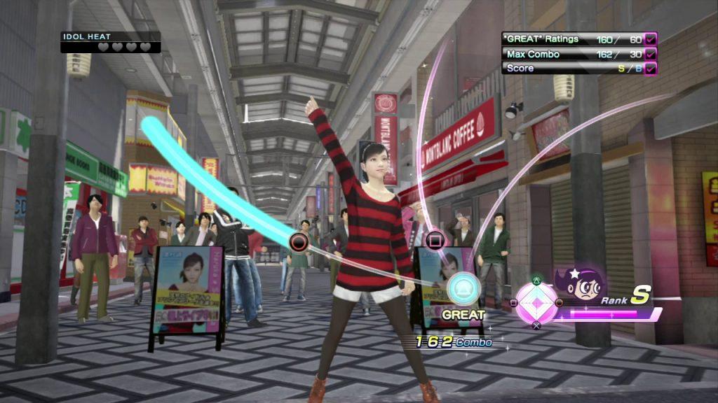 The idol minigame in Yakuza 5 featuring Haruka